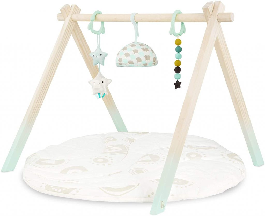 B. WOODEN PLAY GYM AND MAT
