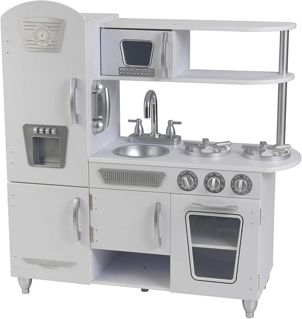 KidKraft White Vintage Play Kitchen - best Kids Play Kitchen