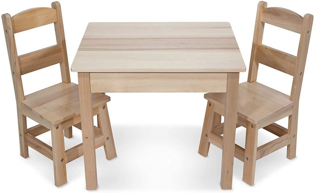 Melissa & Doug Solid Wood Table Chairs - The Best Table and Chair For Kids
