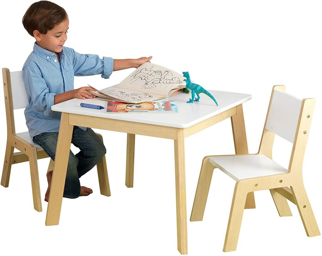 Kidkraft White Modern Table with 2 Chairs Set - The Best Table and Chair For Kids